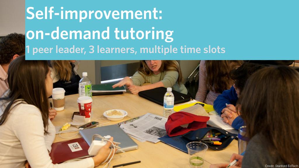 Credit: Stanford EdTech Self-improvement: on-de...
