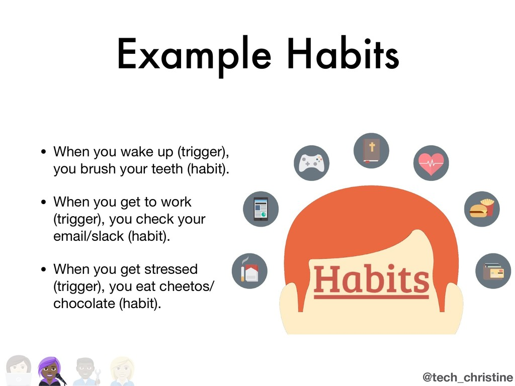 @tech_christine Example Habits • When you wake ...