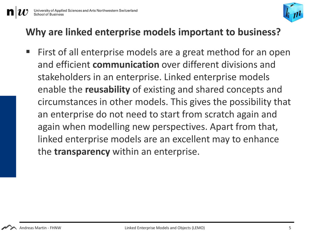 Andreas Martin - FHNW Why are linked enterprise...