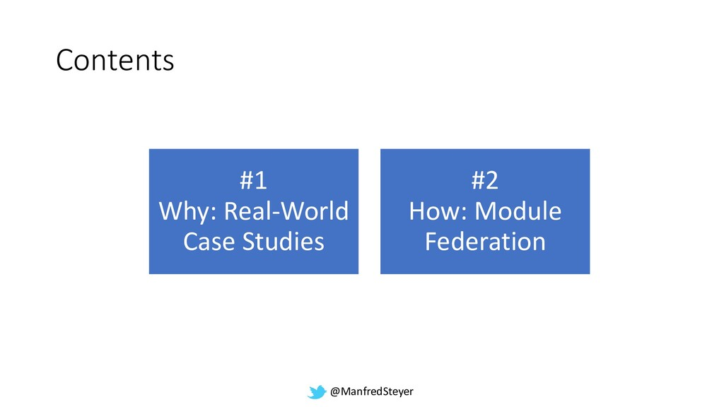 @ManfredSteyer Contents #1 Why: Real-World Case...