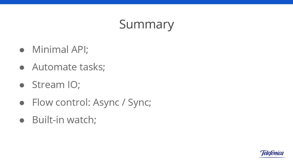 Summary ● Minimal API; ● Automate tasks; ● Stre...