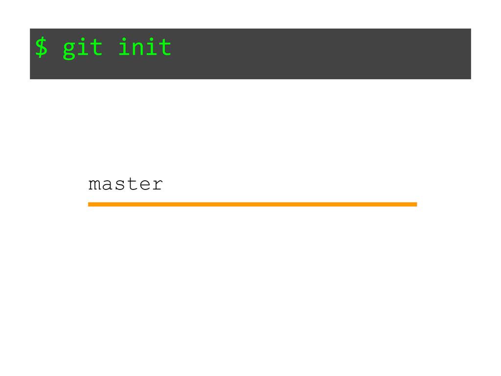 $ git init master