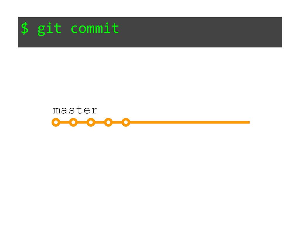 $ git commit master
