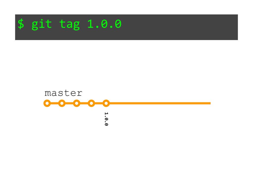 $ git tag 1.0.0 1.0.0 master