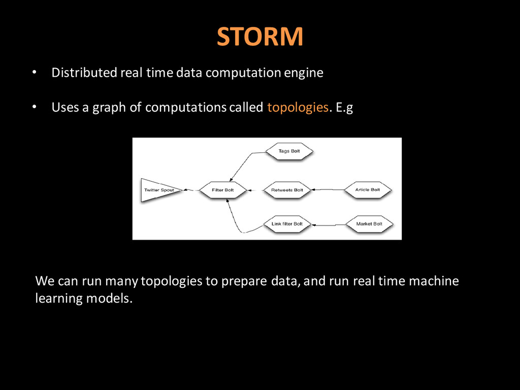 STORM • Distributed real time data computation ...