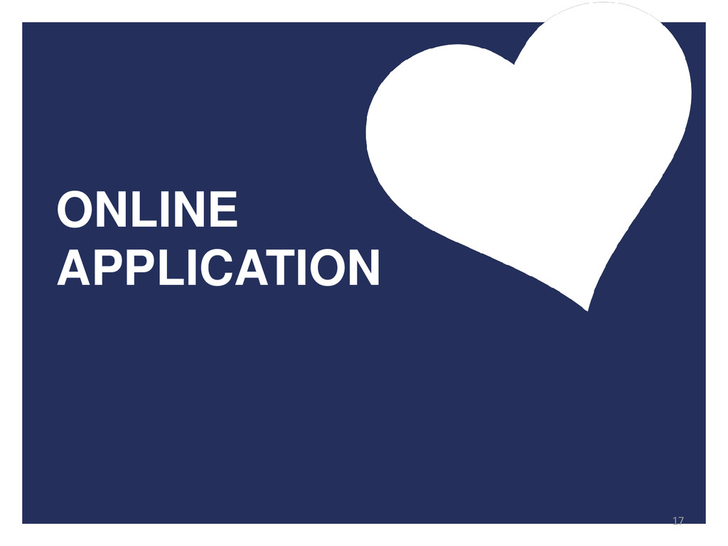 ONLINE APPLICATION 17