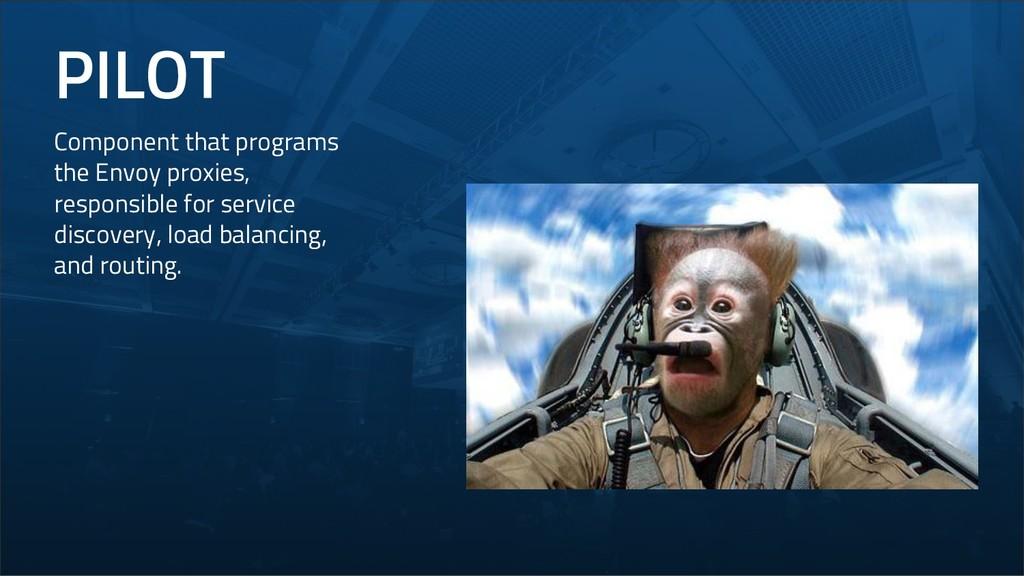 PILOT Component that programs the Envoy proxies...