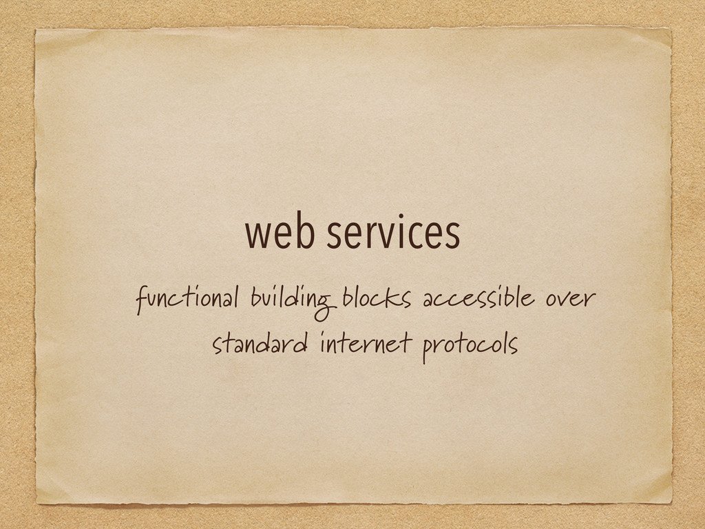 web services functional building blocks accessi...