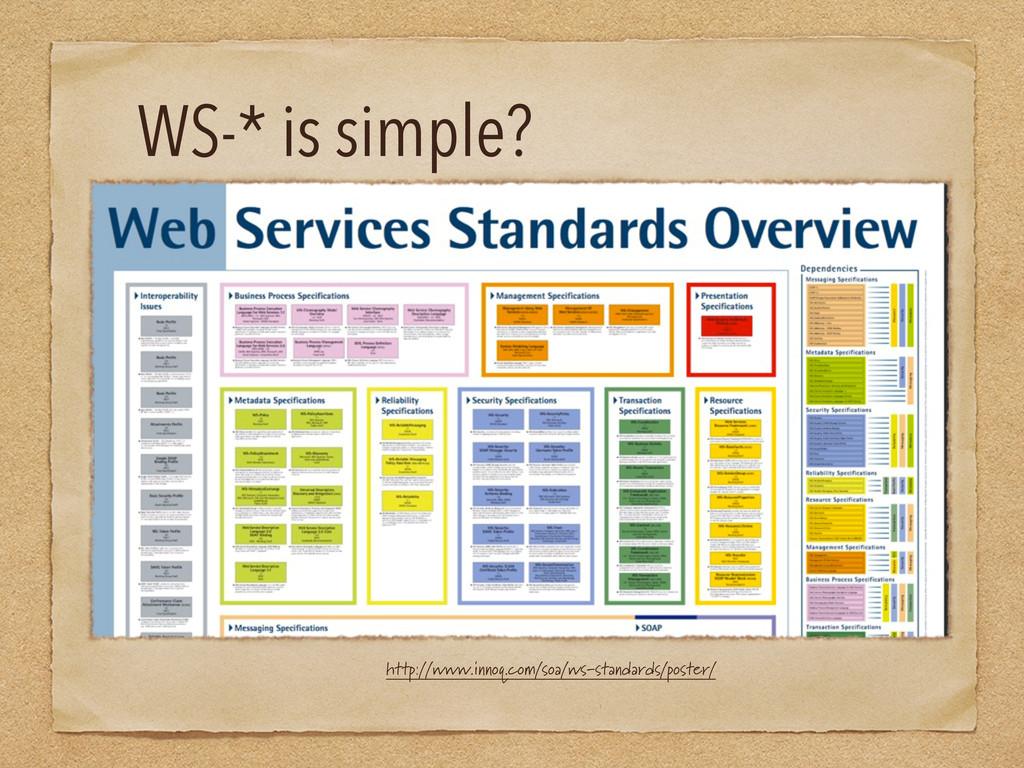 WS-* is simple? http://www.innoq.com/soa/ws-sta...