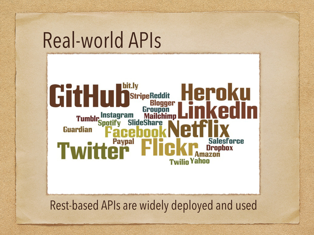 Real-world APIs Rest-based APIs are widely depl...
