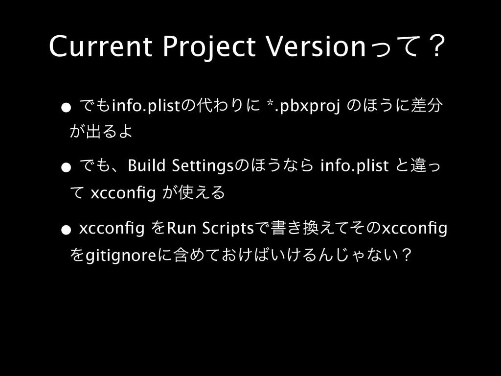 Current Project Versionͬͯʁ • Ͱinfo.plistͷΘΓʹ ...