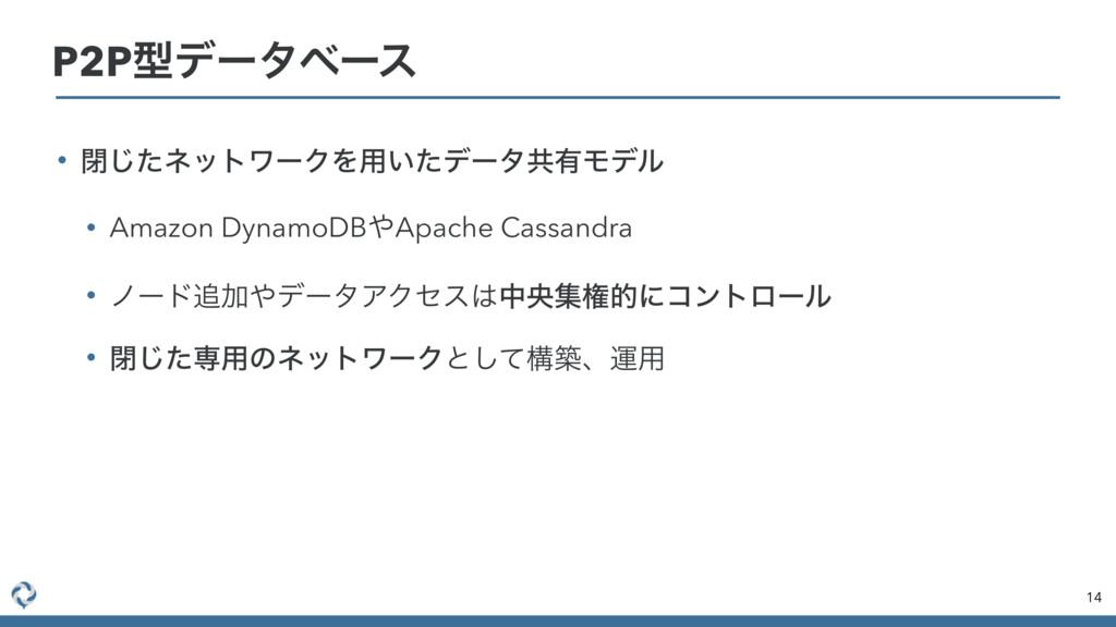 • ดͨ͡ωοτϫʔΫΛ༻͍ͨσʔλڞ༗Ϟσϧ • Amazon DynamoDBApach...