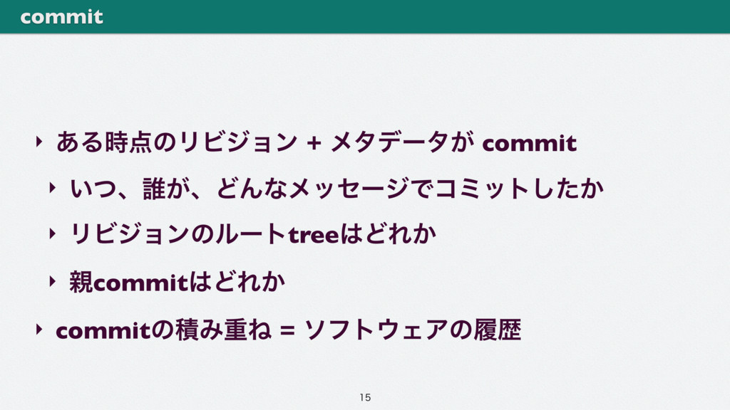 ‣ ͋ΔͷϦϏδϣϯ + ϝλσʔλ͕ commit ‣ ͍ͭɺ୭͕ɺͲΜͳϝοηʔδͰί...