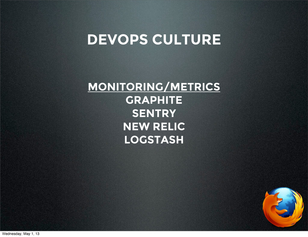 DEVOPS CULTURE MONITORING/METRICS GRAPHITE SENT...