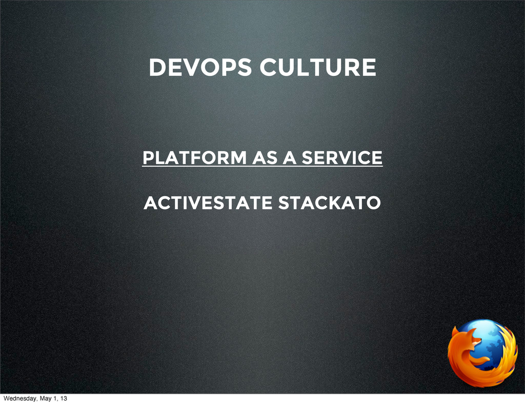 DEVOPS CULTURE PLATFORM AS A SERVICE ACTIVESTAT...