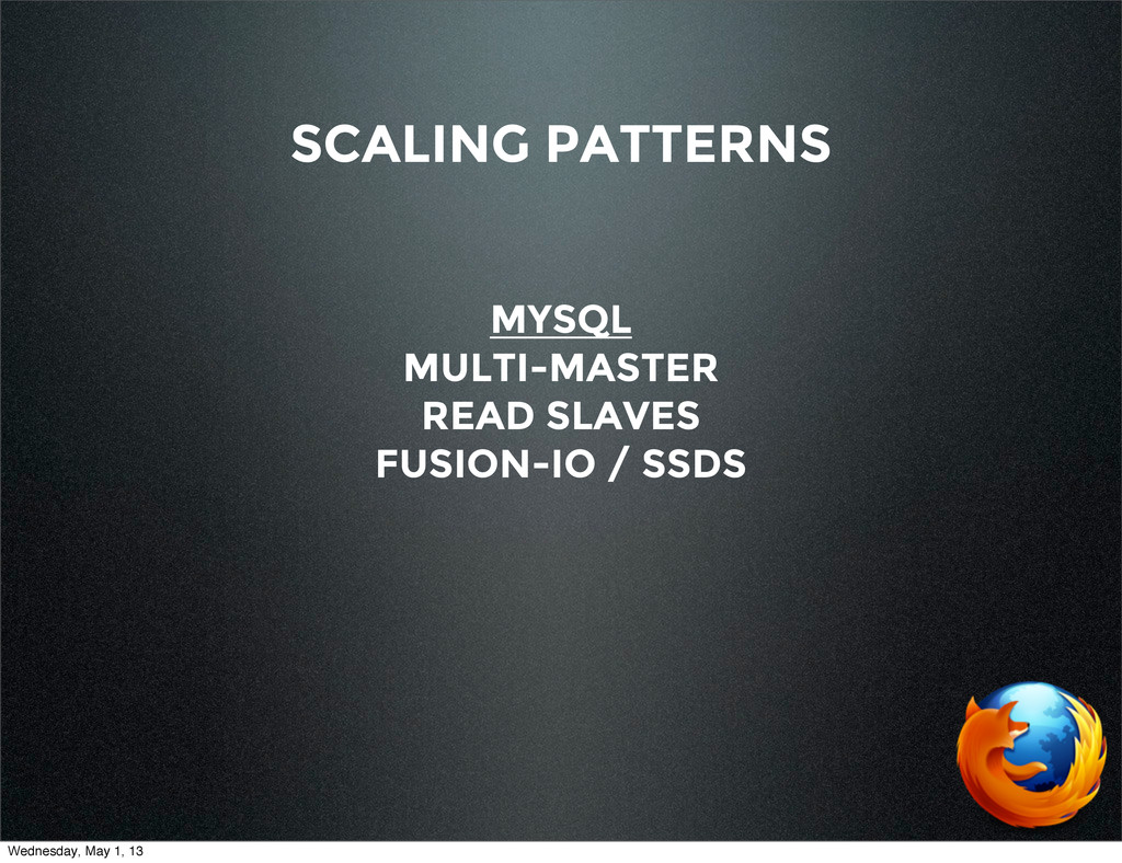 SCALING PATTERNS MYSQL MULTI-MASTER READ SLAVES...