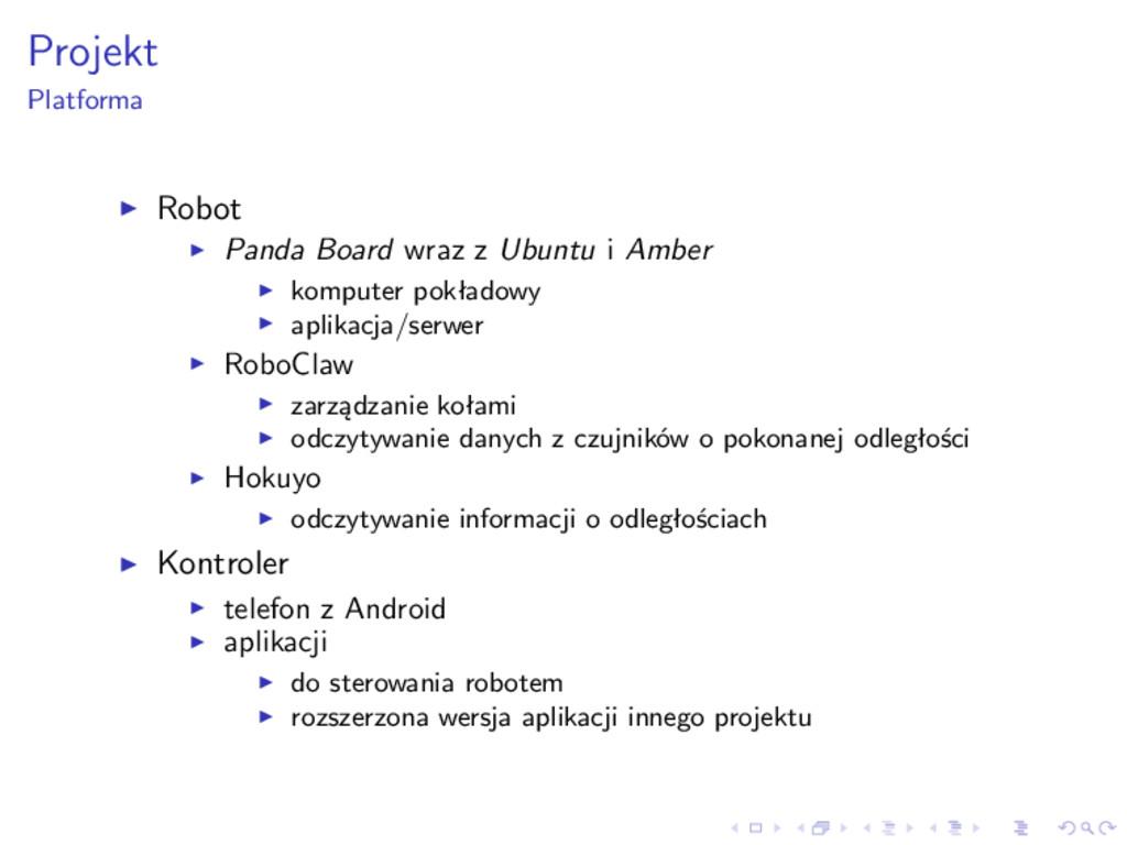 Projekt Platforma Robot Panda Board wraz z Ubun...