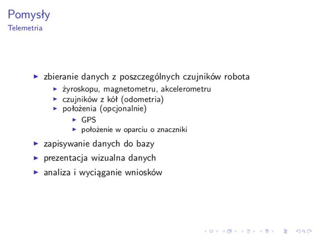 Pomysły Telemetria zbieranie danych z poszczegó...