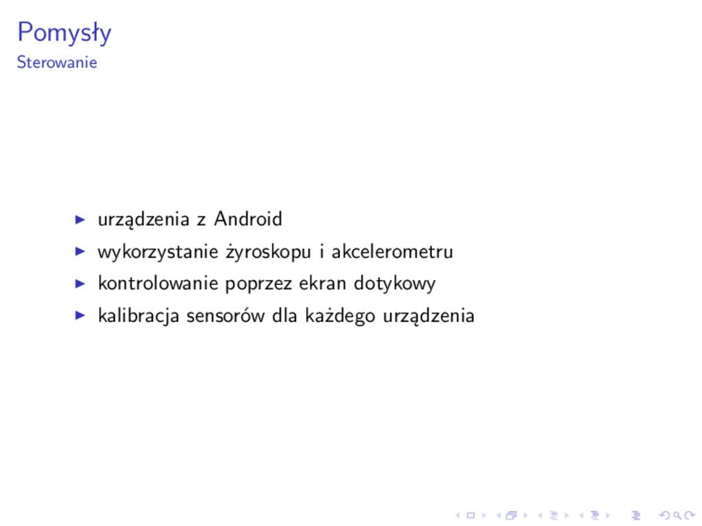 Pomysły Sterowanie urządzenia z Android wykorzy...