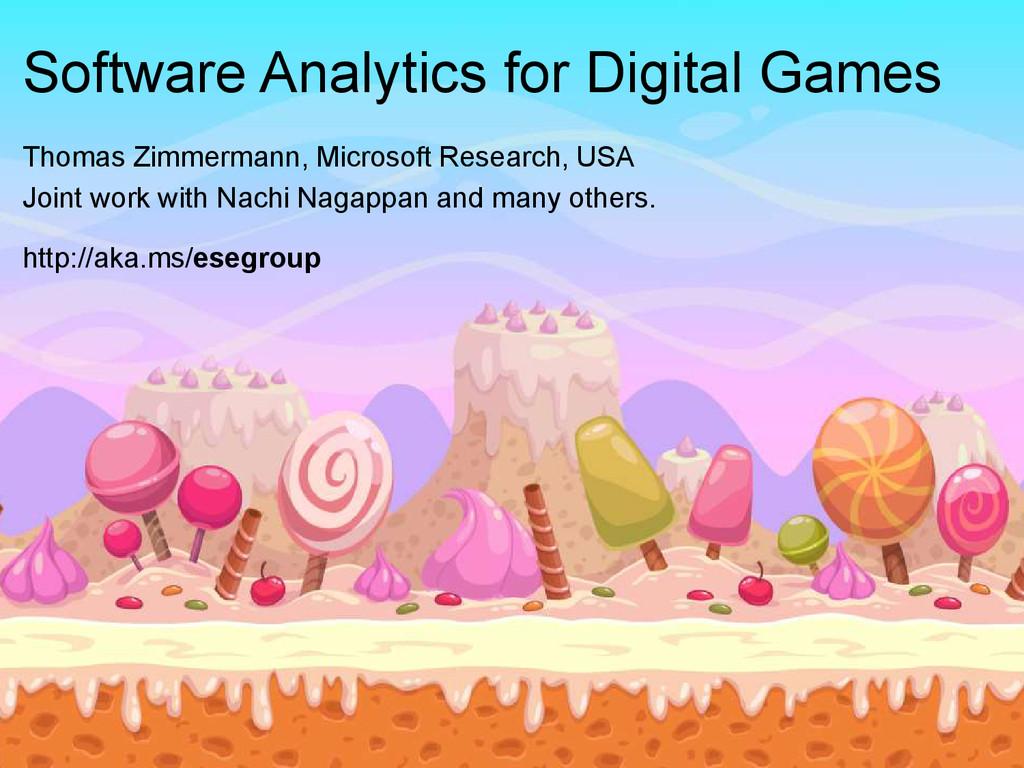 © Microsoft Corporation Software Analytics for ...
