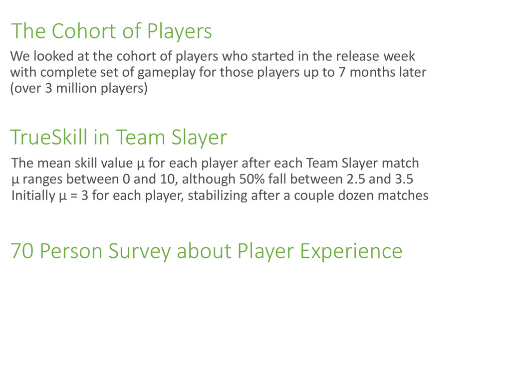 The Cohort of Players The mean skill value µ fo...