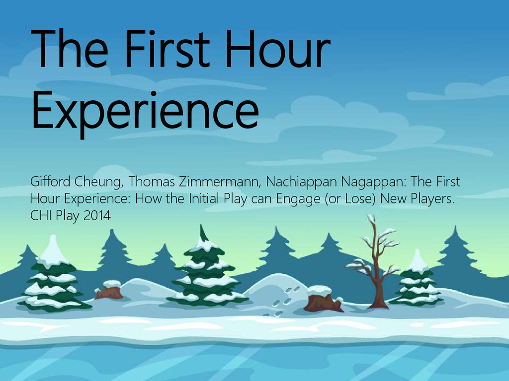 © Microsoft Corporation The First Hour Experien...