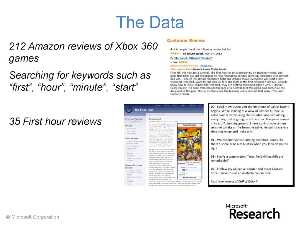 © Microsoft Corporation The Data 212 Amazon rev...