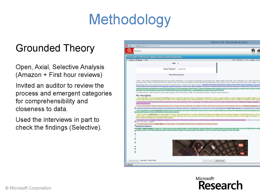 © Microsoft Corporation Methodology Grounded Th...