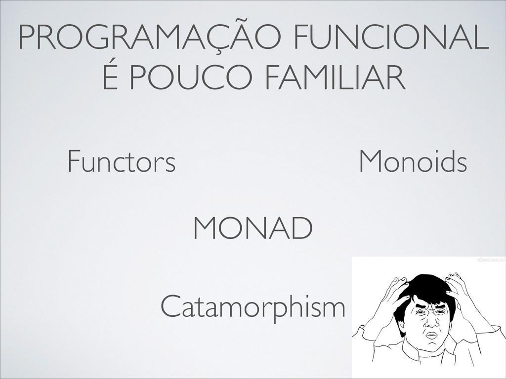 PROGRAMAÇÃO FUNCIONAL É POUCO FAMILIAR Functors...