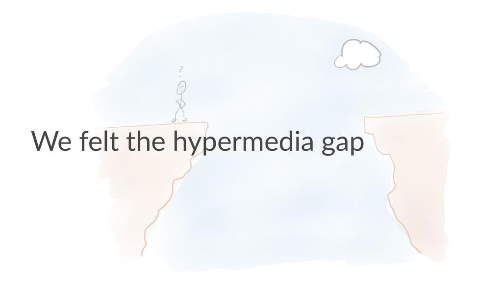 We felt the hypermedia gap