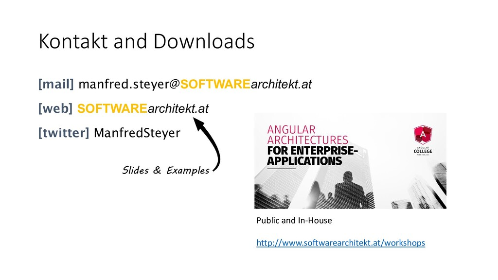 Kontakt and Downloads [mail] manfred.steyer@SOF...