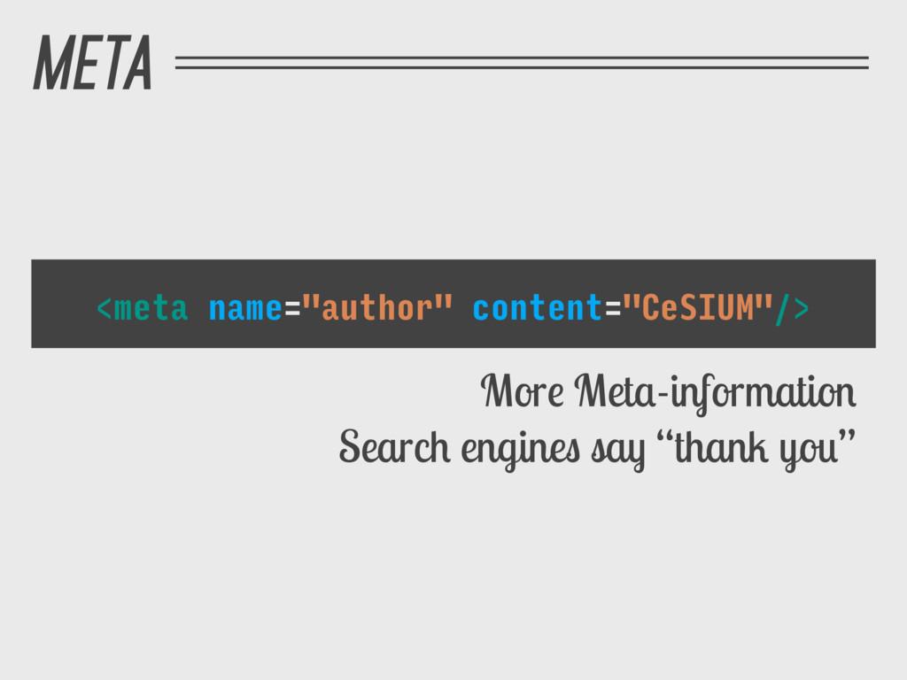 """META <meta name=""""author"""" content=""""CeSIUM""""/> Mor..."""