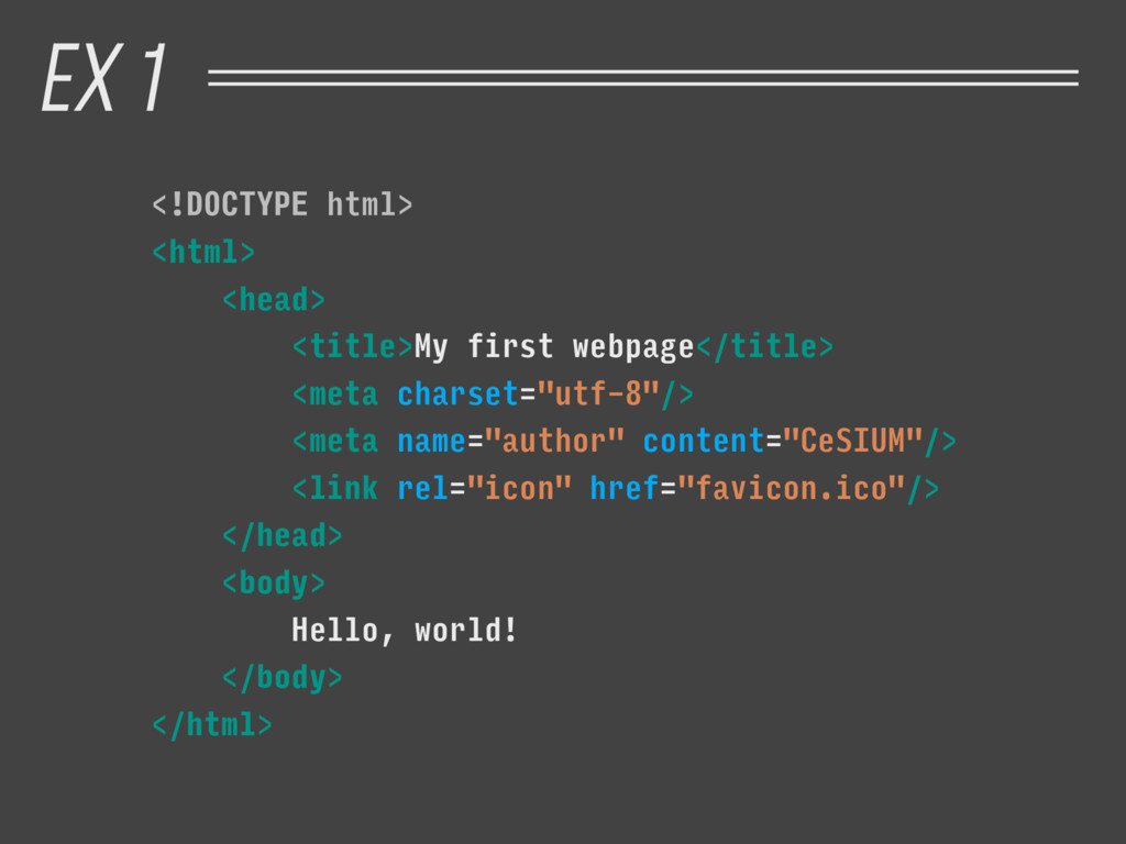 <!DOCTYPE html> <html> <head> <title>My first w...