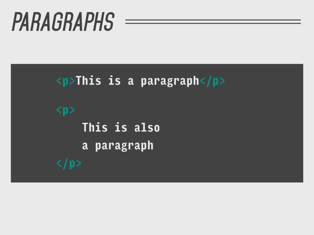 <p>This is a paragraph</p> <p> This is also a p...