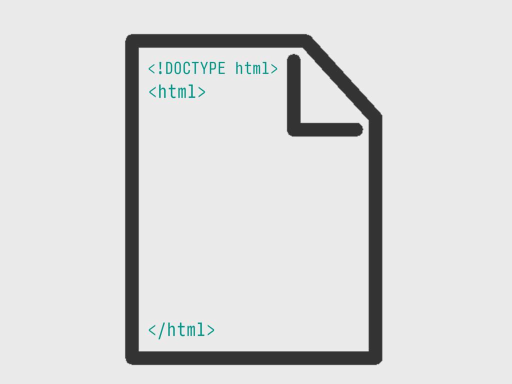 <html> </html> <!DOCTYPE html>