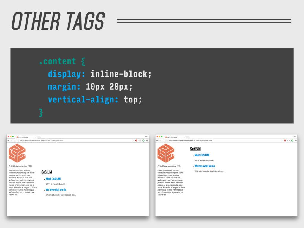 .content { display: inline-block; margin: 10px ...
