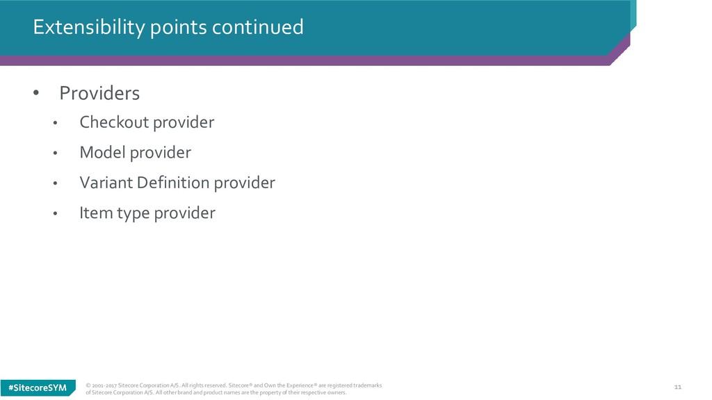 11 • Providers • Checkout provider • Model prov...