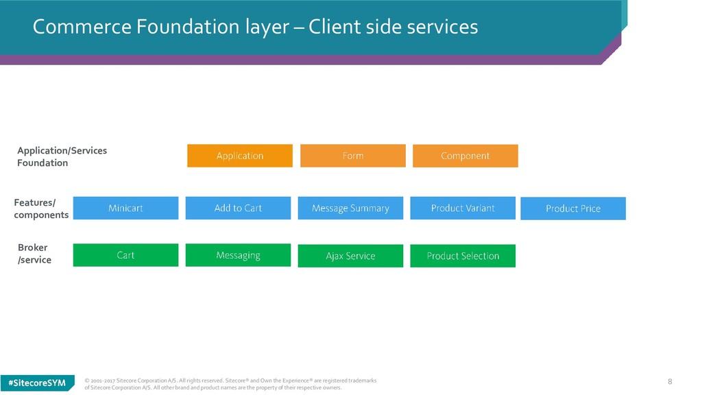 8 Commerce Foundation layer – Client side servi...