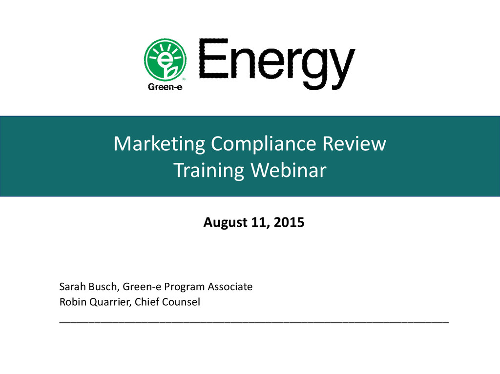 Marketing Compliance Review Training Webinar Au...