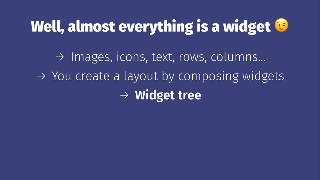 Well, almost everything is a widget → Images, i...