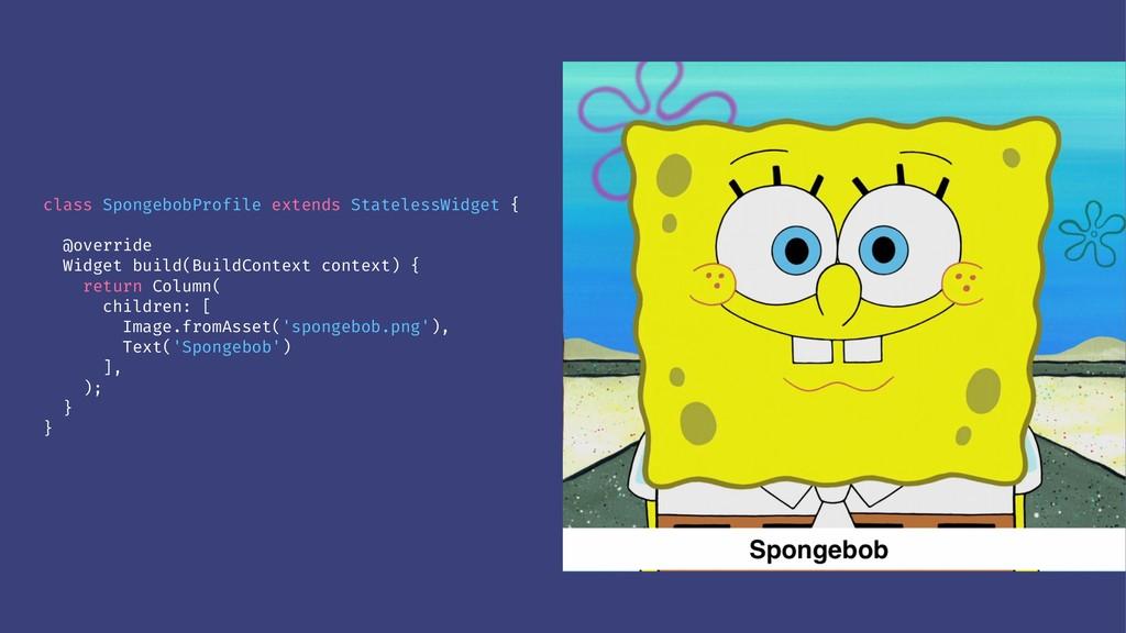 class SpongebobProfile extends StatelessWidget ...