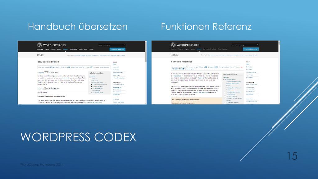WORDPRESS CODEX Handbuch übersetzen Funktionen ...