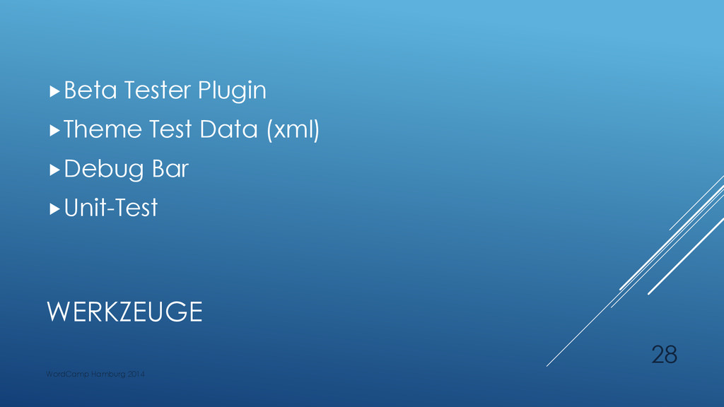 WERKZEUGE Beta Tester Plugin Theme Test Data ...