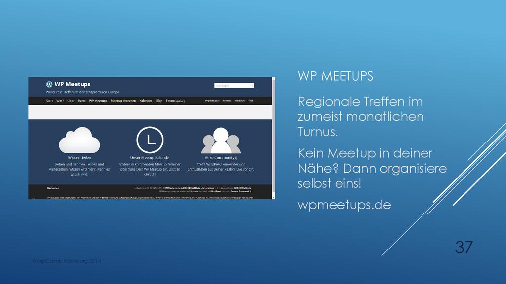 WP MEETUPS Regionale Treffen im zumeist monatli...