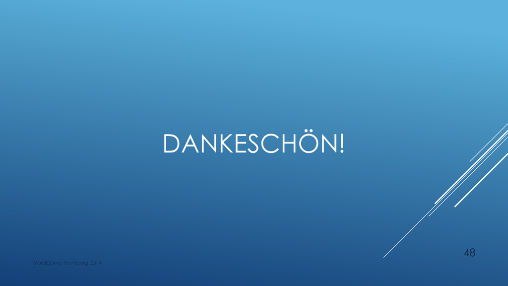 DANKESCHÖN! WordCamp Hamburg 2014 48