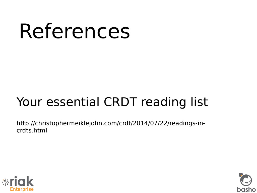 References Your essential CRDT reading list htt...