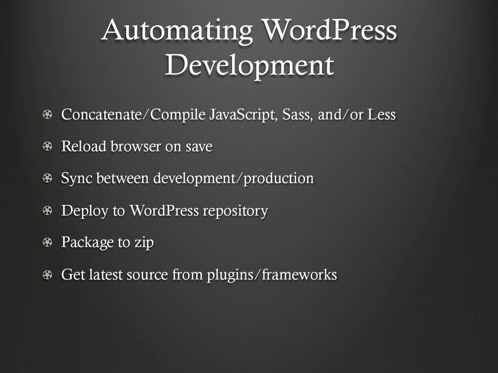 Automating WordPress Development !  Concatenat...