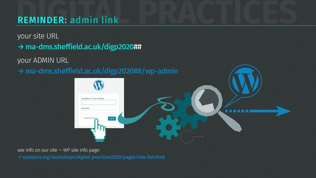 DIGITAL PRACTICES REMINDER: admin link your sit...