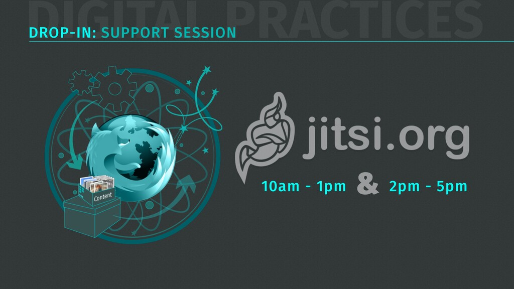 DIGITAL PRACTICES DROP-IN: SUPPORT SESSION 10am...