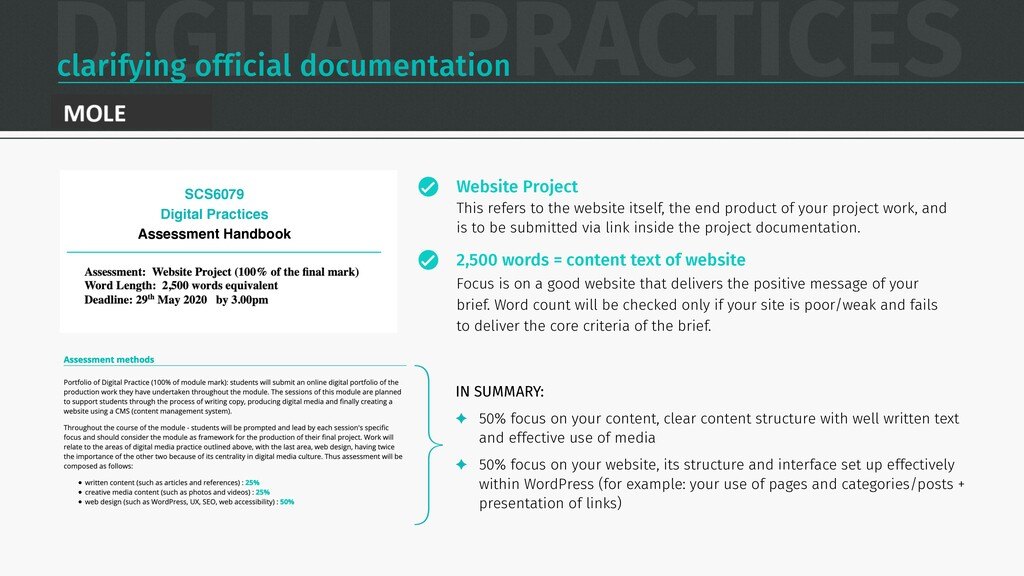 DIGITAL PRACTICES clarifying official documenta...